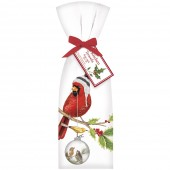 Cardinal With Ornament Towel Set