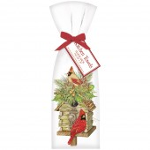 Log Cabin Birdhouse Towel Set