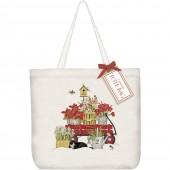 Amaryllis Wagon Tote Bag