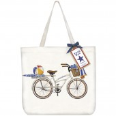 White Bike Tote Bag