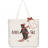 Ski Bear With Scarf Tote Bag