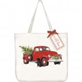 Holiday Truck Tote Bag