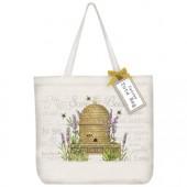 Lavender Beehive Tote Bag