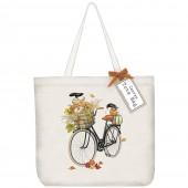 Pumpkin Bike Tote Bag