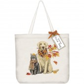 Dog Fall Branch Tote Bag