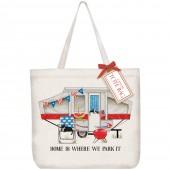 Camper Patriotic Tote Bag