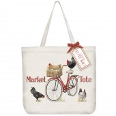 Red Rooster Bike Tote Bag