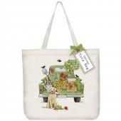 Green Truck Garden Tote Bag