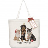 Winter Dog Trio Tote Bag