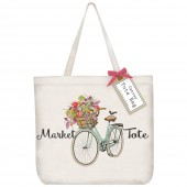 Spring Bike Tote Bag