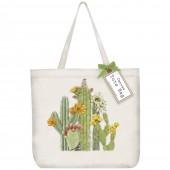 Cacti Blooms Tote Bag