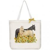 Sunflower Horses Tote Bag