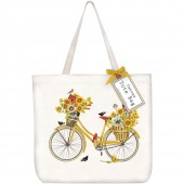 Sunflower Bike Tote Bag