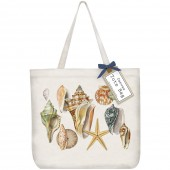 Seashell Collage Tote
