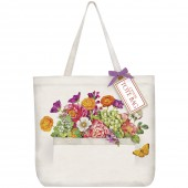 Country Flowers Pocket Tote