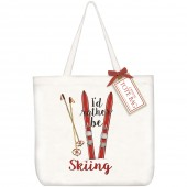 Ski Quote Tote Bag