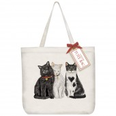 Three Love Cats Tote Bag