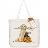 Raking Dog And Cat Tote Bag