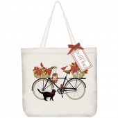 Amaryllis Bike Tote Bag