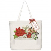 Winter Birds Flowers Tote Bag