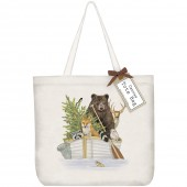Forest Animal Boat Tote Bag