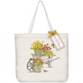 Tulip Wheelbarrow Tote Bag