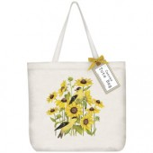 Sunflower Finch Tote Bag