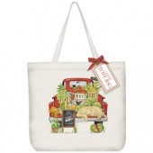 Red Market Truck Tote Bag