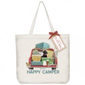 Red Truck Camping Tote Bag