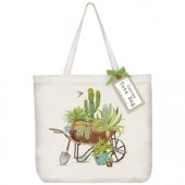 Cactus Wheelbarrow Tote Bag