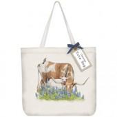 Longhorn And Calf Tote Bag