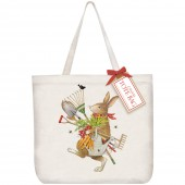 Garden Tools Rabbit Tote Bag