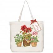 Geranium Hummingbird Pots Tote Bag