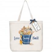 Seashell Pail Tote Bag
