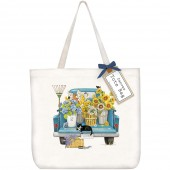 Flower Truck Tote Bag