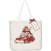 Santa Bug Tote Bag