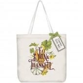 Eat Drink Pumpkin Square Tote Bag