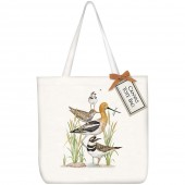 Stacked Shore Birds Square Tote Bag