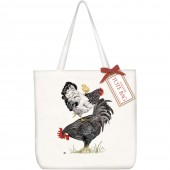 Stacked Chickens Square Tote Bag