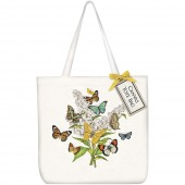 Butterfly Bush Sqaure Tote Bag