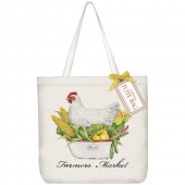 Chicken Dinner Square Tote