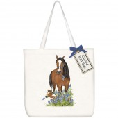 Bluebonnet Horses Square Tote Bag