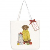 Knitting Pets Square Tote Bag