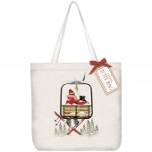 Ski Lift Square Tote Bag