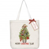Cowboy Tree Square Tote Bag