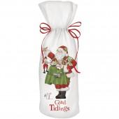 Toy Santa Wine Bag