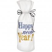 Happy New Year Wine Bag