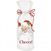 Winking Santa Wine Bag