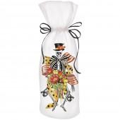 Skeleton Flower Wine Bag