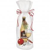 White Wine Holiday Wine Bag